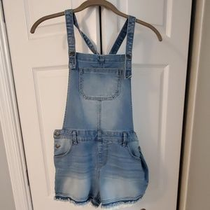 Cat & Jack short overalls with lace trim XL